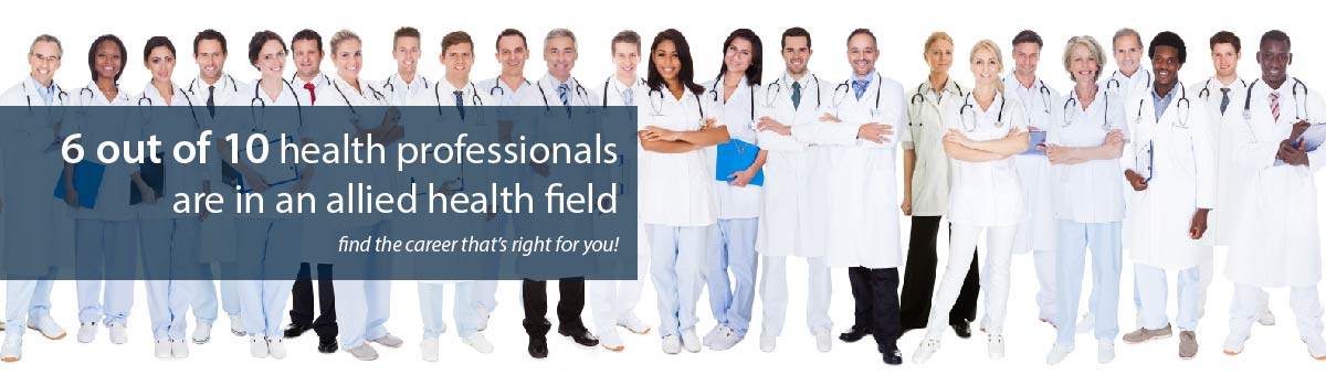 panorama of diverse group of health professionals standing in a group