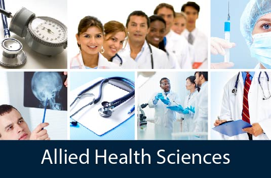 concept image showing multiple allied health professions